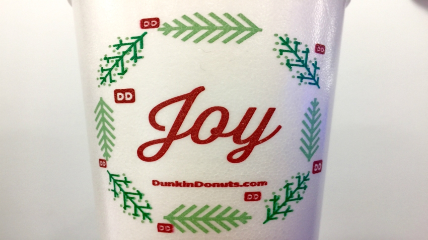 Dunkin' Donuts holiday cup