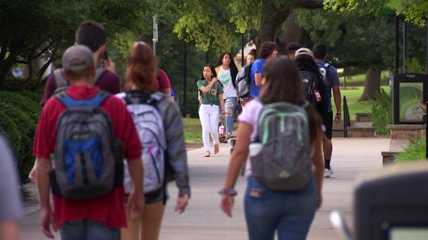 UNT college student students generic campus