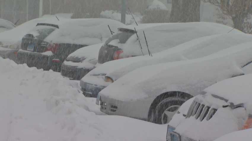 hartford snow covered cars