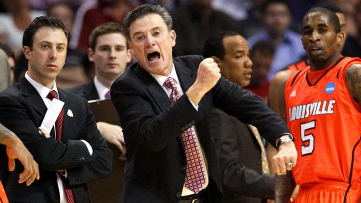 APTOPIX NCAA Louisville Michigan St Basketball