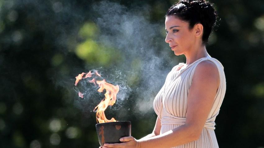 Greece Olympics Sochi Flame Lighting