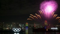 Tokyo Marks 6 Months Until Summer Olympics With Fireworks Show