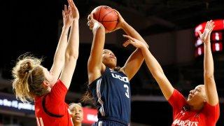 UConn forward Megan Walker shoots