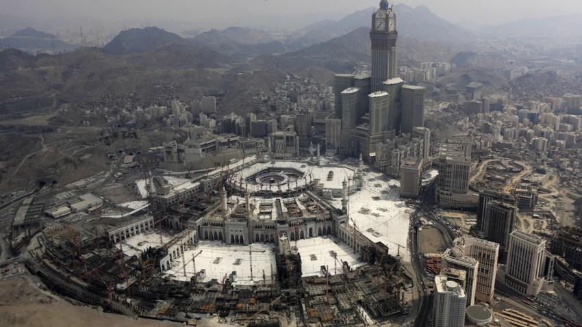 Mideast Saudi Arabia Crane Collapse