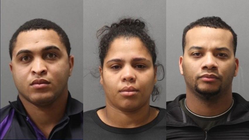 Mug shots of 3 people accused of impesonating FedEx employees