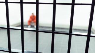 Stock Image of prison bars
