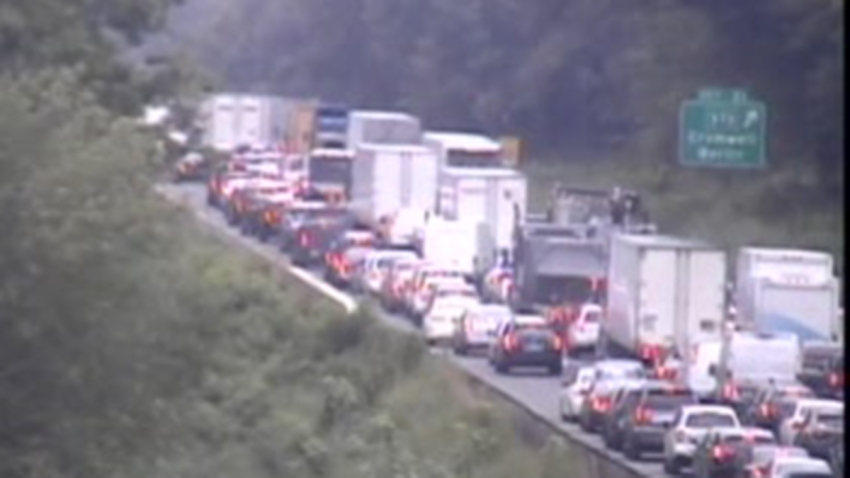 Backup on Interstate 91 in Cromwell