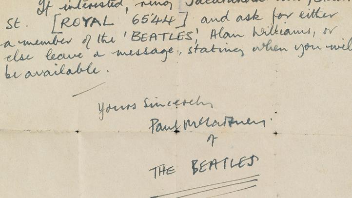 Beatles Letter