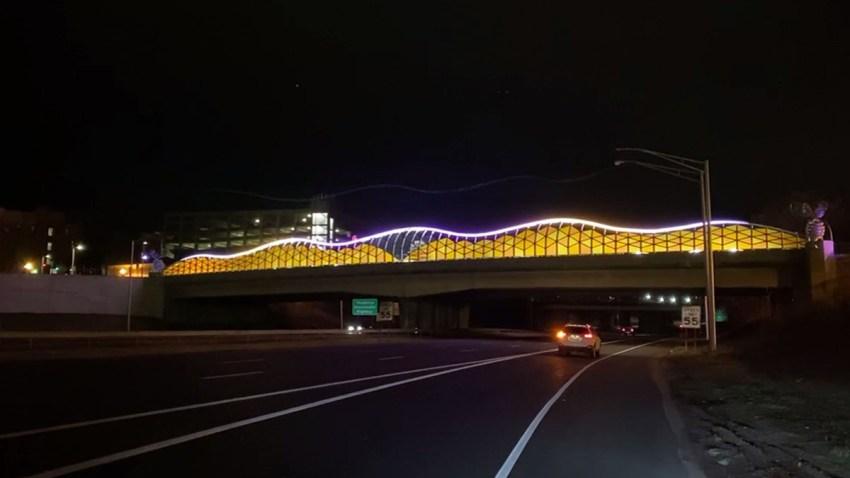 Bee Hive Bridge in Purple and Gold