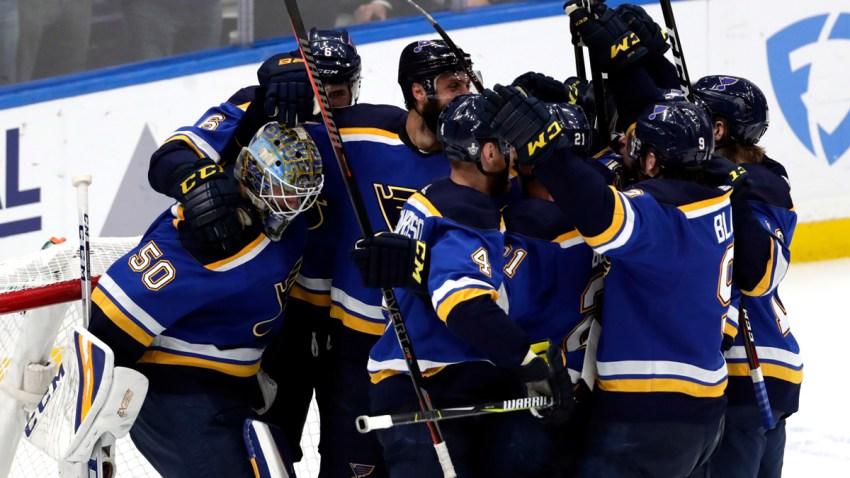 Sharks Blues Hockey