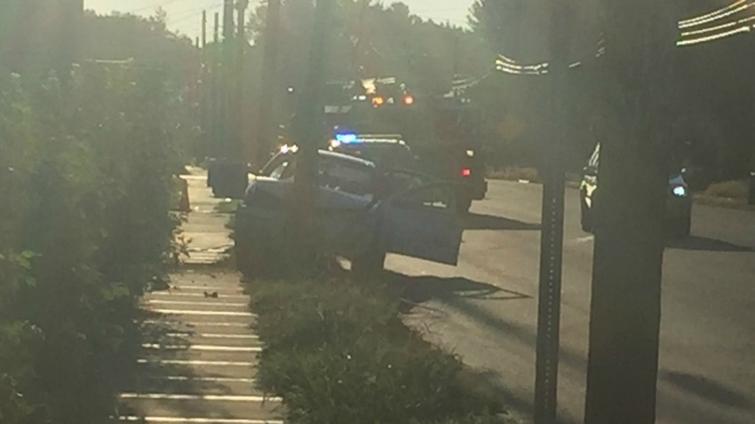 Car hit pole on Burnside Avenue in East Hartford