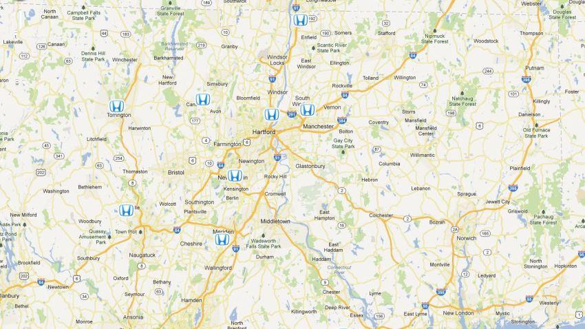 Central CT Dealer Map