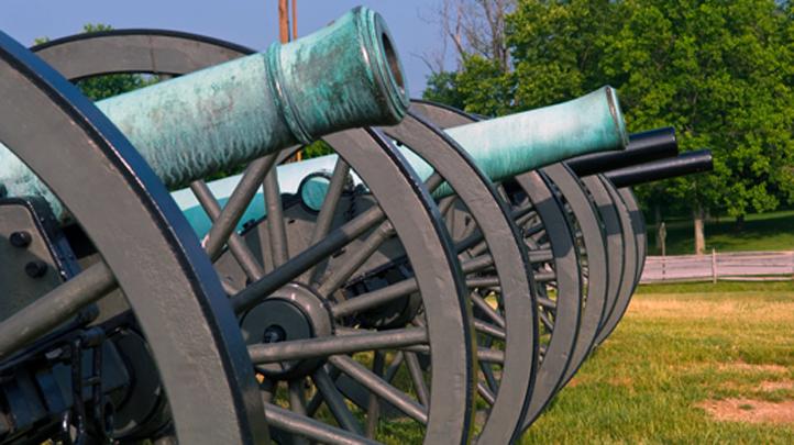 Civil war cannons 722