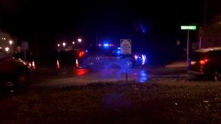 Police at a crash in Shleton
