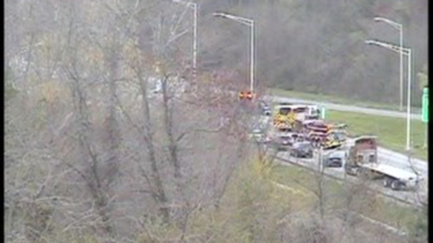 Crash on Interstate 84 in Farmington