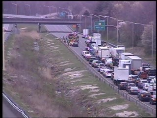 crash on Interstate 91 in Rocky Hill