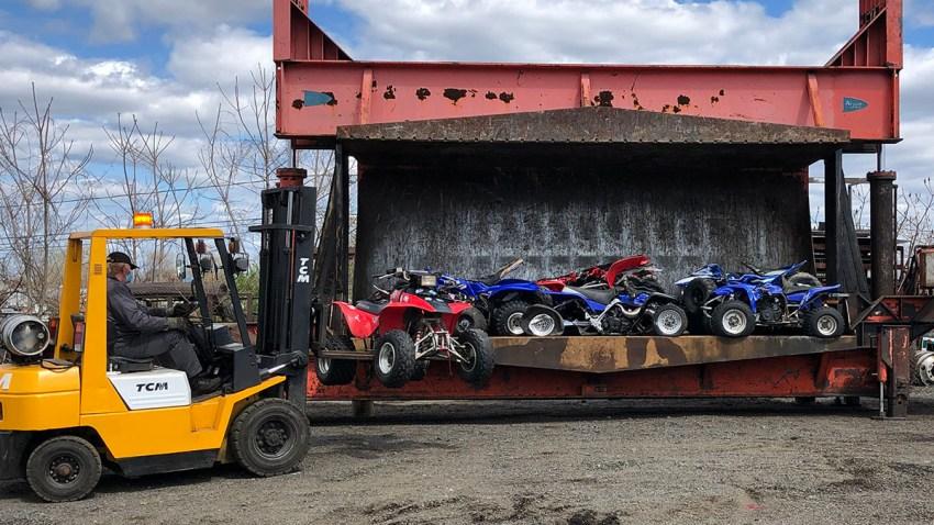 crushed ATVs in Hartford