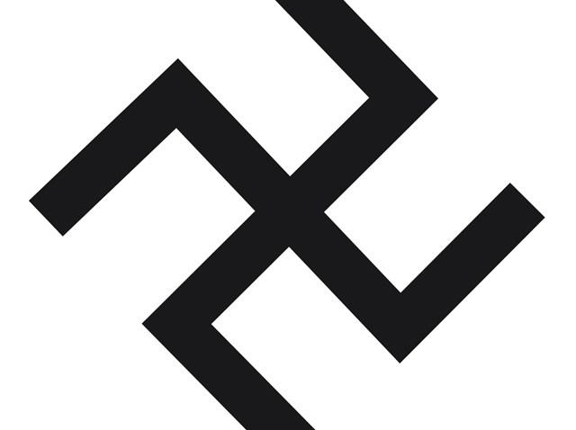DC Black and White Swastika school vandalism