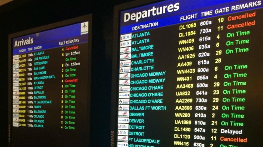 Delta cancellations at Bradley
