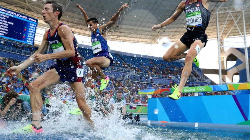 Don Cabral in Rio Steeplechase finals