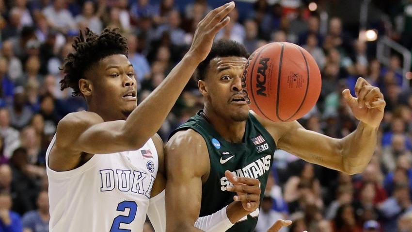 NCAA Michigan St Duke Basketball