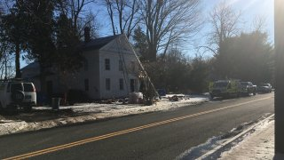 House in East Granby where roofer fdell