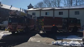Firefighters respond to fire at apartments in Willimantic