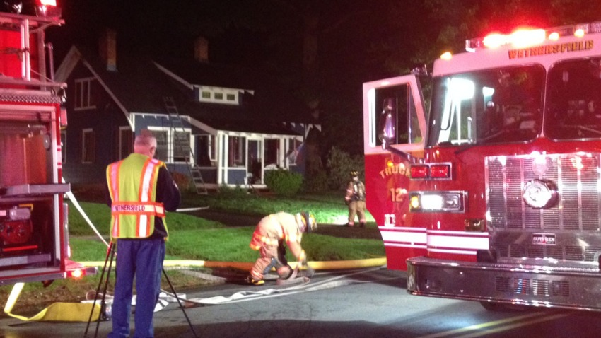 Fire on State Street in Wethersfield1200