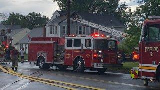 Fire on Wolcott Road in Wethersfield