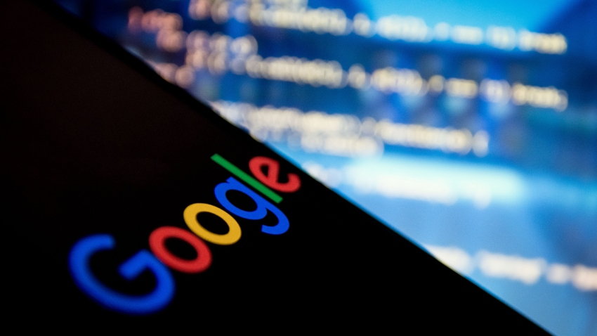 In this photo illustration a Google logo is displayed on a smartphone on 1st February 2020 in Athens, Greece.