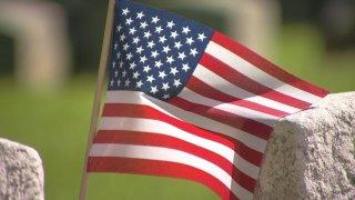 Generic American Flag Generic Grave