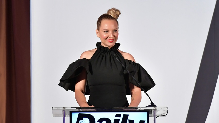In this March 17, 2019, file photo, Sia speaks onstage duing The Daily Front Row Fashion LA Awards 2019 in Los Angeles, California.
