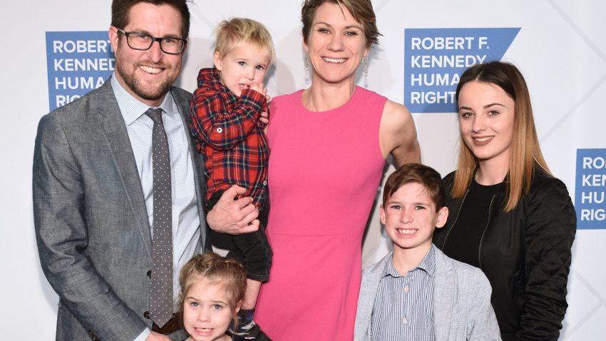 In this Dec. 12, 2019, file photo, David McKean, Maeve Kennedy Townsend McKean and family attend the Robert F. Kennedy Human Rights Hosts 2019 Ripple Of Hope Gala Auction in New York City.