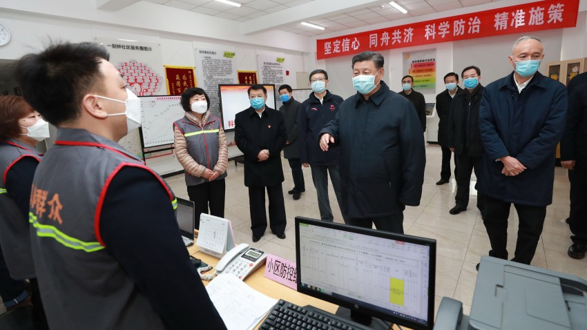 Chinese President Xi Jinping inspects coronavirus prevention and detection technology in Beijing