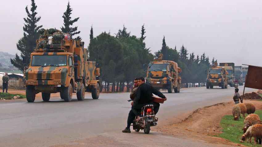 Turkish military convoy in Syria