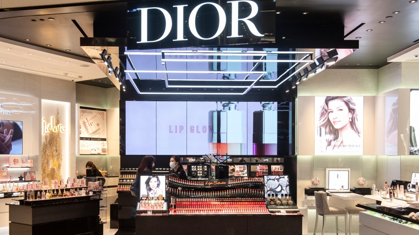 French Christian Dior luxury goods, clothing and beauty