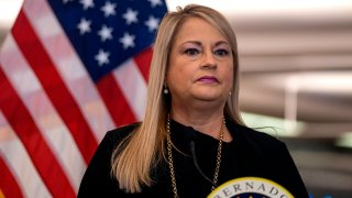 Puerto Rico Governor Wanda Vazquez Garced speaks during a press conference to announce strict new rules for all passengers flying into Puerto Rico to curb coronavirus cases in San Juan, Puerto Rico, on June 30, 2020.