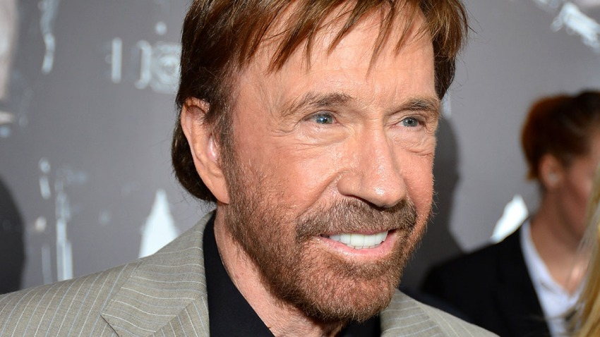 "In this Aug. 15, 2012, file photo, actor Chuck Norris arrives at Lionsgate Films' ""The Expendables 2"" premiere in Hollywood, California."