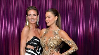 Model Heidi Klum (L) and Sofía Vergara attend The 2017 InStyle and Warner Bros. 73rd Annual Golden Globe Awards Post-Party at The Beverly Hilton Hotel on Jan. 8, 2017 in Beverly Hills, California.