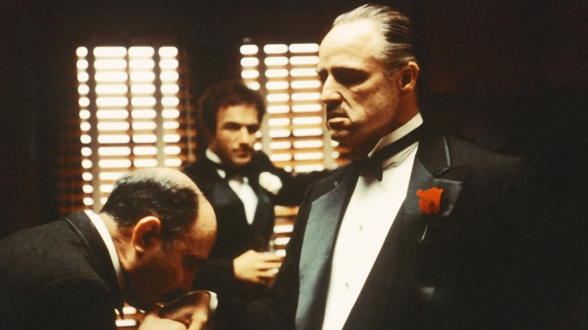 """A scene from """"The Godfather"""""""