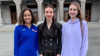 Three girls who filed a lawsuit about transgender sports in Connecticut