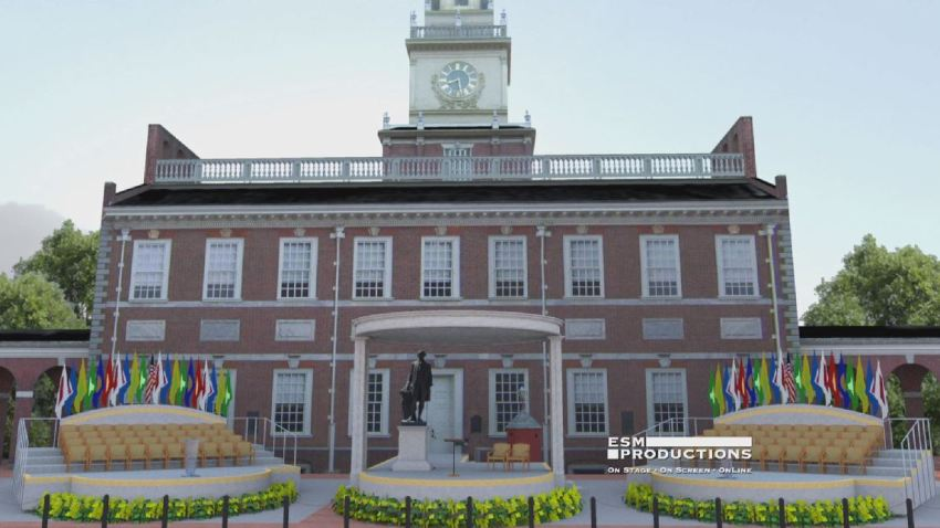 Independence Hall Pope