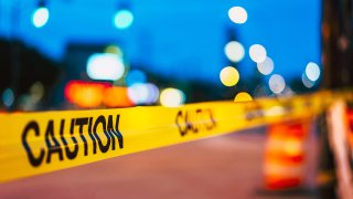 Crime scene tape is pictured in this file photo.