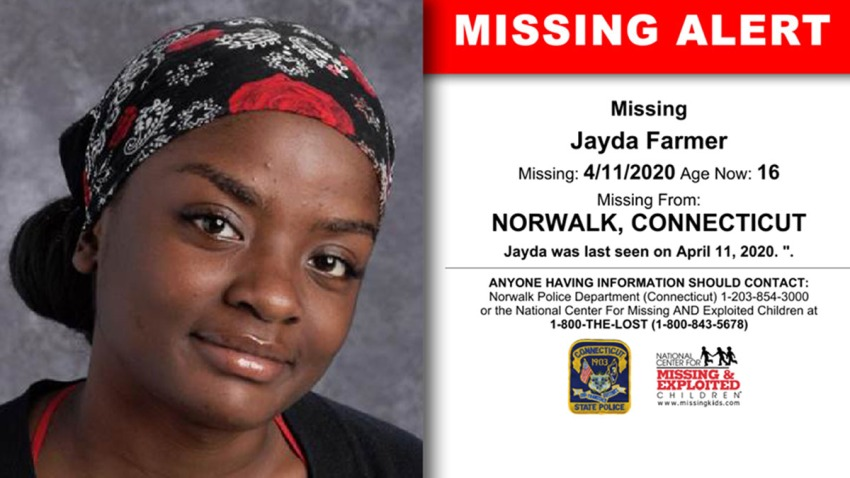 Missing teen Jayda farmer