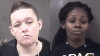 Milford police booking photos of Jessica Stanwicks and Lashay Paige