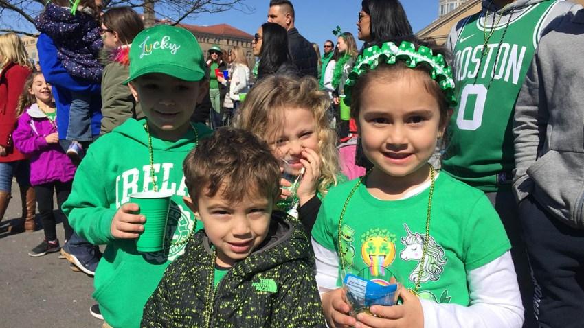 Kids at St. Patricks Day Parade in Hartford_NBC CT