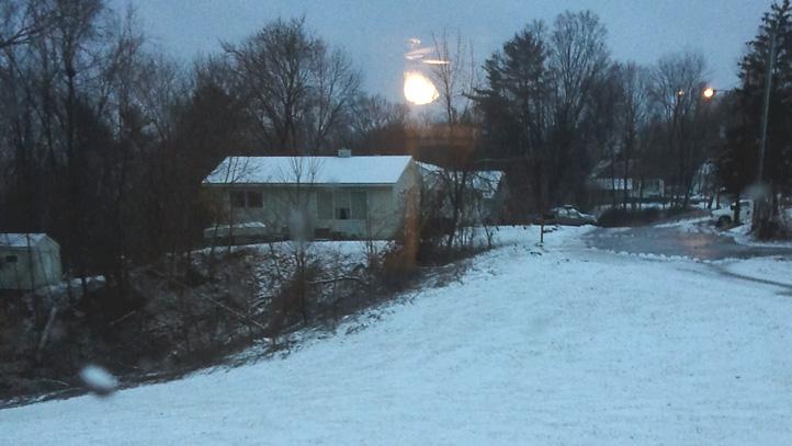 Light snowfall in January