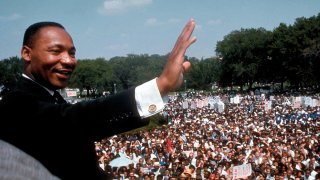 Dr. Martin Luther King Jr. giving his I Have a Dream speech