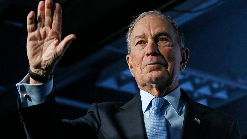 Democratic presidential candidate and former New York City Mayor Mike Bloomberg waves after speaking at a campaign event, Feb. 20, 2020, in Salt Lake City.