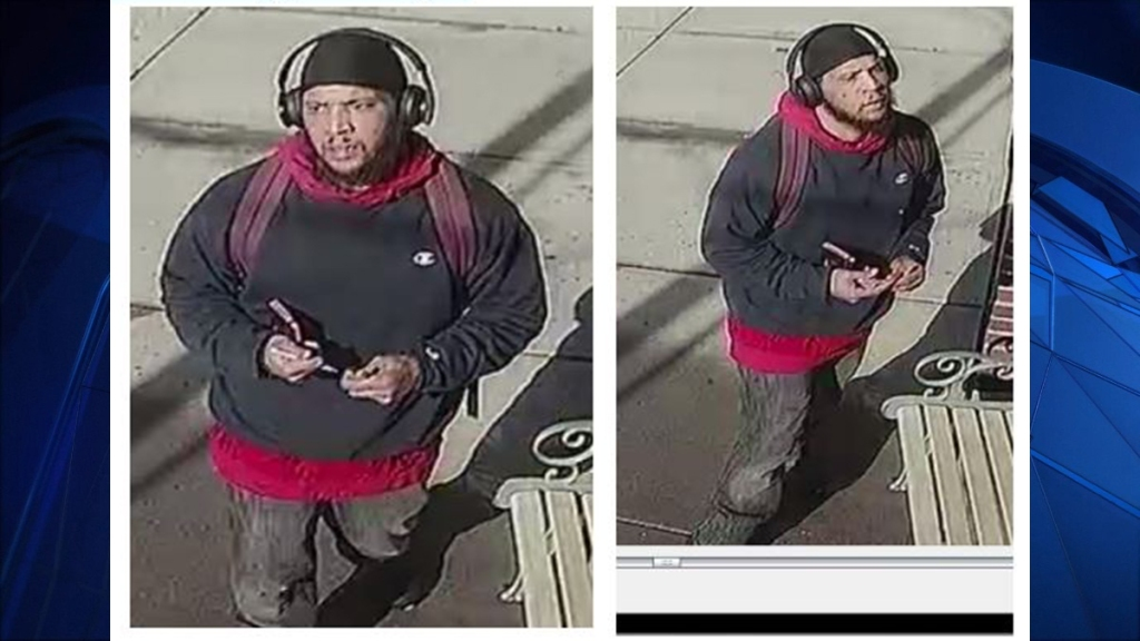 Milford Police photo of a person sought in a threatening case